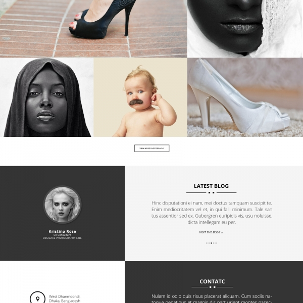 [Image: Photography web template]
