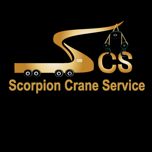 [Image: Logo for scorpion crane service]