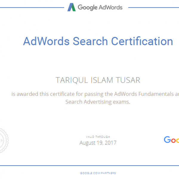 [Image: Google Adwords Search Certified]