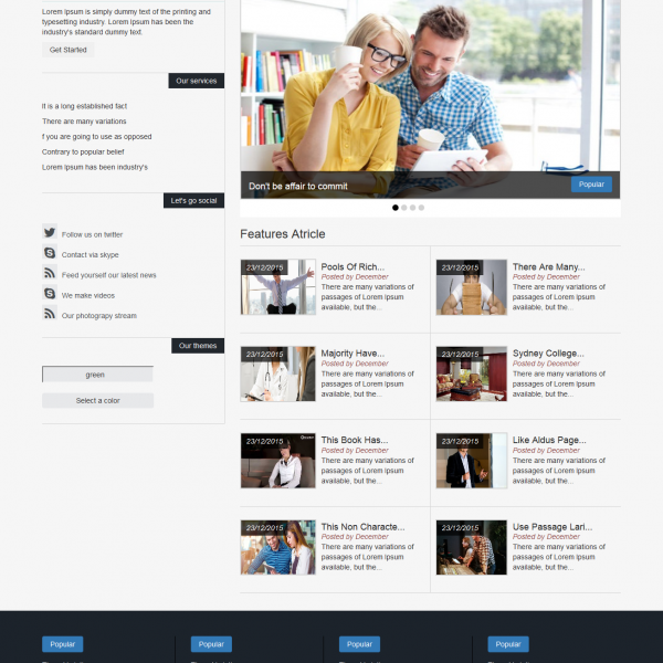 [Image: HTML5, CSS3, Bootstrap template]