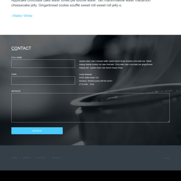 [Image: premium psd to html template]
